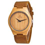 Деревянные наручные часы REDEAR. Гипоаллергенные. Кожаный ремешок